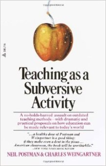 teaching as subversive activity cover
